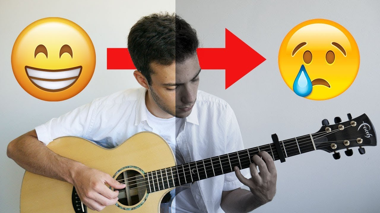 Happy Songs turned into Sad Versions (FINGERSTYLE GUITAR)