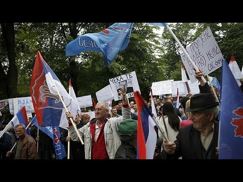 Συγκεντρώσεις διαμαρτυρίας κατά κυβέρνησης και αντιπολίτευσης στη Μπάνια Λούκα