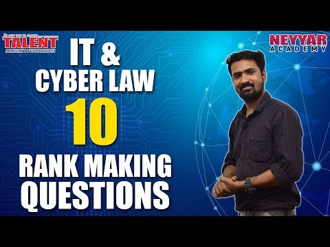 10 Rank Making Questions from IT & Cyber Law for University Assistant Exam | Talent Academy