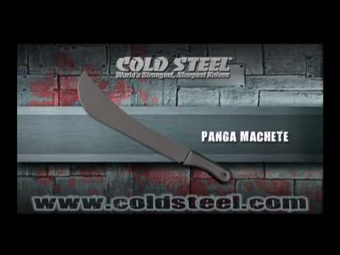Cold Steel Panga Machete Knife - Black Plain