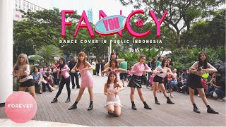 KPOP IN PUBLIC TWICE FANCY DANCE COVER in PUBLIC INDONESIA