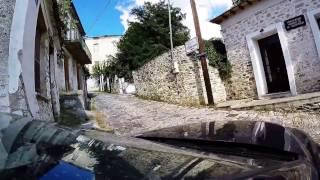 Portaria Greece  city images : Narrow car road to Despotiko Hotel, Portaria, Greece
