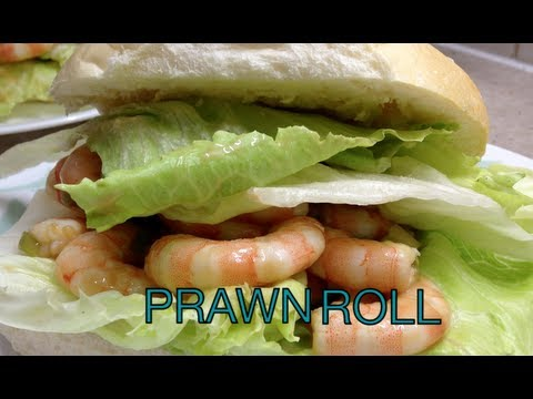 Fresh Prawn Shrimp Roll with home made Seafood Dressing cheekyricho