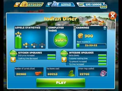 Cooking Fever-Indian Diner Level 1-40(3 Stars)