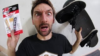 Video SHOES SUPER GLUED TO THE BOARD?! | STUPID SKATE EP 100 MP3, 3GP, MP4, WEBM, AVI, FLV Agustus 2017