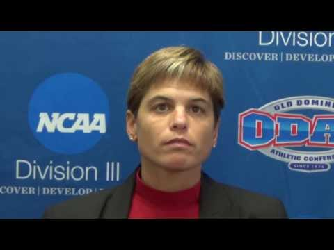 Women's Basketball Coach Stephanie Flamini at ODAC Media Day
