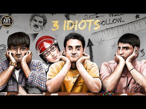 3 IDIOTS 2009 | Aamir Khan | Kareena Kapoor | R.Madhavan | Sharman Joshi | Boman Irani | Digital Art