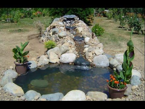 Водопад на огороде своими руками