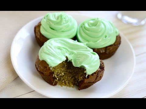 Brownie Cupcakes for St Patricks Day