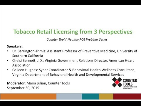 WEBINAR: Tobacco Retailer Licensing from Three Perspectives