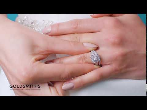 A Perfect Match | 18ct White Gold Princess Cut 1 Carat Diamond Bridal Set