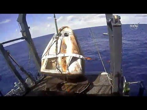 Προσθαλασσώθηκε με επιτυχία το Crew Dragon της Space X