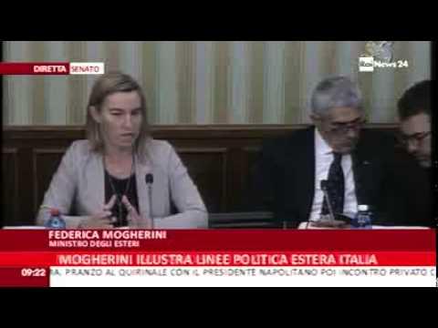 Il Ministro Mogherini in Parlamento