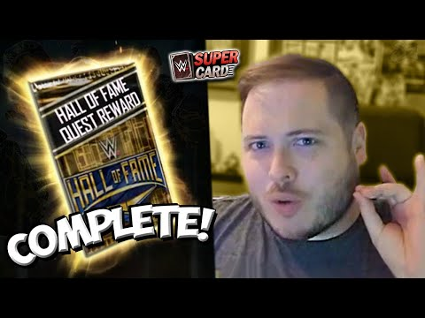 Hall of Fame Quest Completed! CRAZY Spring Fusion PRO!! | WWE SuperCard