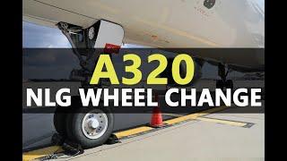 Video Airbus A320 Nose Landing Gear Wheel Removal / Installation MP3, 3GP, MP4, WEBM, AVI, FLV Juni 2018