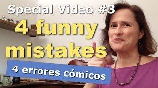 """Video Especial No. 34 palabras que crean confusión en los estudiantes de español dando lugar a malentendidos y errores cómicos.Descarga gratis: """"Activa tu Español--SE"""" http://www.practiquemos.com/activaDescarga gratis: """"Ejercicios de Español 1""""http://catalinamoreno.weebly.com/FB → https://www.facebook.com/PRACTIQUEMOS"""