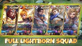 LIGHTBORN FULL SQUAD GAMEPLAY ( GRABE PARANG LEGEND SKINS LANG ANG DATING!! )  - MOBILE LEGENDS