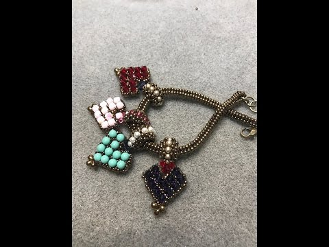 Loving Heart Reversible Charm - A Bronzepony Beaded Jewelry Design