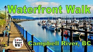 Campbell River (BC) Canada  city photo : Morning Walk Along the Waterfront in Campbell River BC