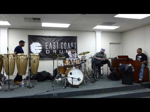 Adam Deitch drum clinic at East Coast Drums - part 1