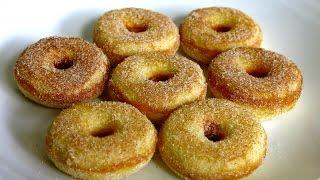 HOW TO MAKE MINI CINNAMON DONUTS