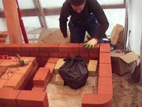 Строим печи зимой
