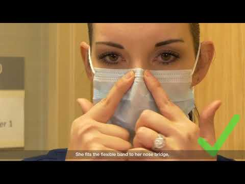 Donning and Doffing Facial Protection – Mask alone