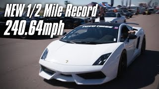 NEW 1/2 Mile Record - 240mph - Underground Racing by High Tech Corvette