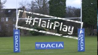 Here's our very own Ryan 'Rhino' Atkins performing his very own #FlairPlay with Dacia.