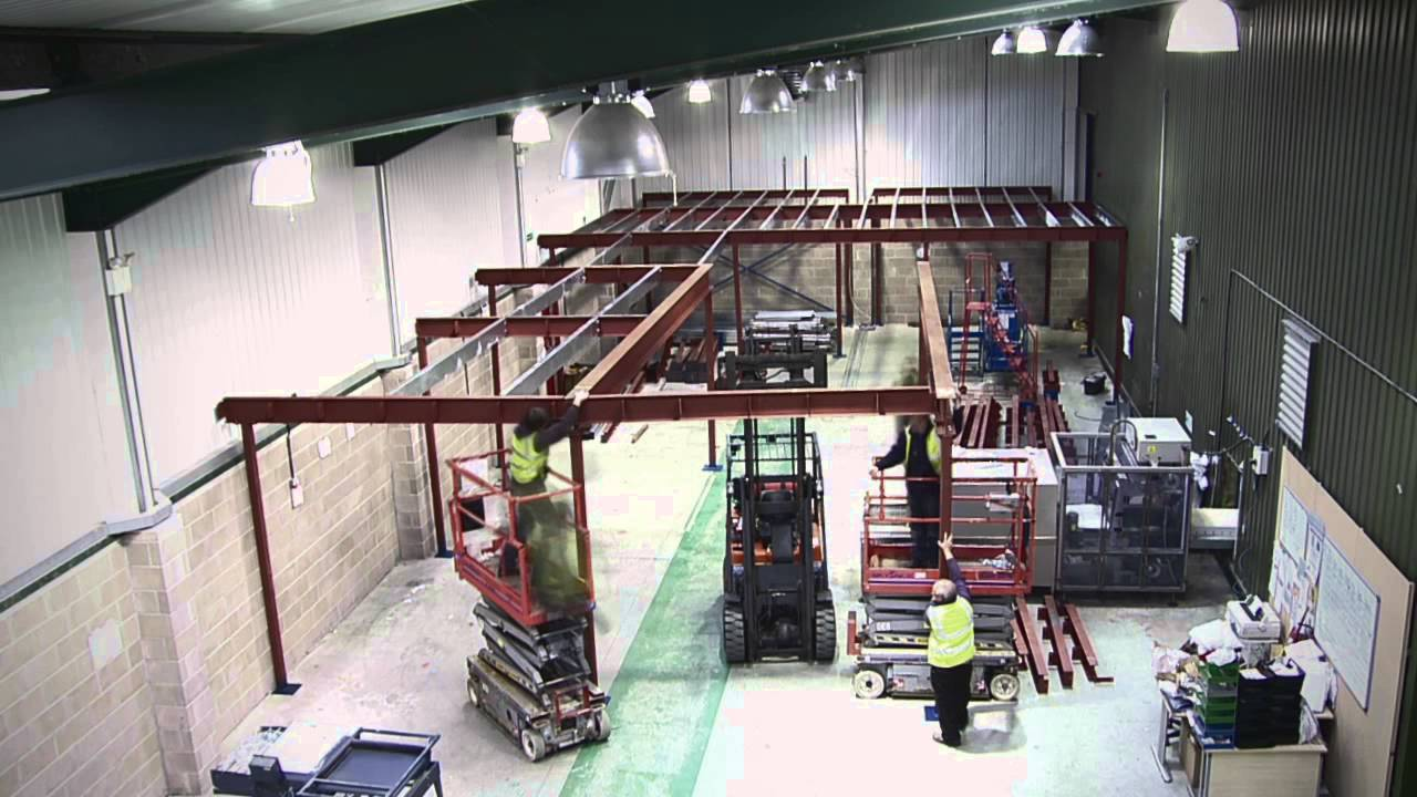 Mezzanine floor fast-track build