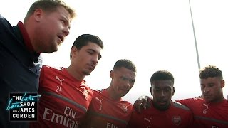 Video James Corden Takes Over as Coach of Arsenal F.C. MP3, 3GP, MP4, WEBM, AVI, FLV Agustus 2018
