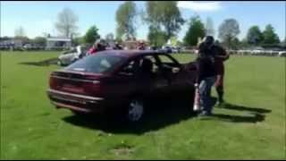 Driffield United Kingdom  city images : CRASHMAN STUNTS UK.....DRIFFIELD MOTOR SHOW 2013 STANDARD CAR