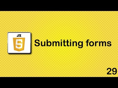 Submitting forms in JavaScript
