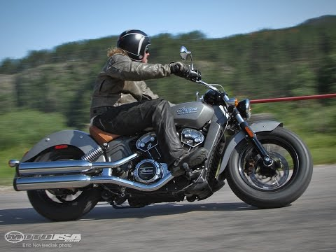 2015 Indian Scout First Ride - MotoUSA