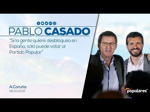 Si la gente quiere desbloqueo en España, sólo puede votar al Partido Popular