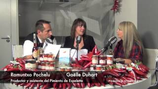 Ramuntxo Pochelu y Gaëlle Duhart (Pimiento de Espelette). 6-11-2013