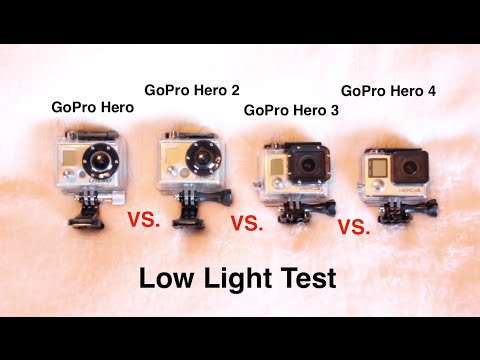 GoPro Hero4 vs Hero3 vs Hero2 vs Hero Low Light Test - GoPro Comparison & GoPro Hero 4 Black Low Light Test (protune on/off) on Photo Portal TV azcodes.com