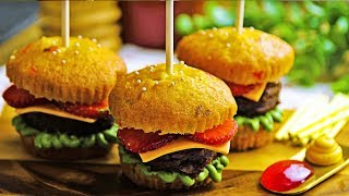 Hamburger Cupcake | Cupcake Decorating Ideas | FUN and Easy Cupcake Recipes by Deli Wow