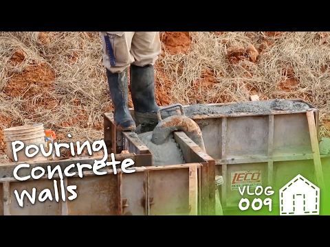 Pouring The Basement Foundation Walls | VLOG 009