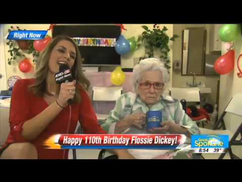 Interview with 110 Year Old Woman Flossie Dickey