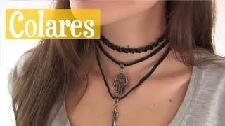DIY Colares / Tattoo Choker, Gargantilhas - YouTube