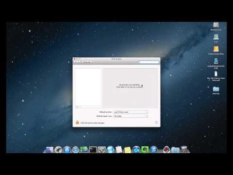 Add Network Printer on Mac