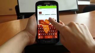 GO Keyboard Dark Chocolate YouTube video