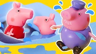 Peppa Pig  Official Channel    Peppa Pig Stop Motion: Peppa Pig at the Beach