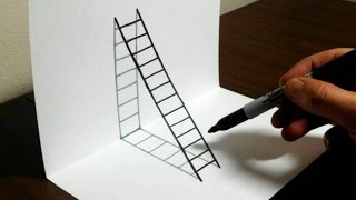 Nonton How To Draw A 3d Ladder   Trick Art For Kids Film Subtitle Indonesia Streaming Movie Download