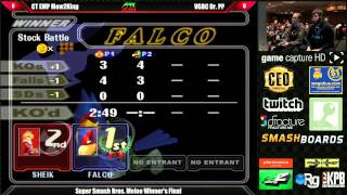 60fps Melee gameplay: Apex 2014 top 3 (PPMD/Mew2king/Mango)