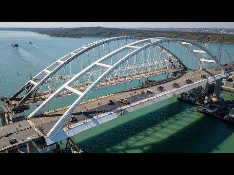 Путин на открытии автомобильной части Крымского моста. Полное видео (видео)