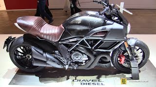 1. 2018 Ducati Diavel Diesel Jeans - Walkaround - 2017 EICMA Milan Motorcycle Exhibition