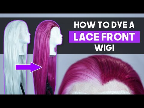 How to Dye a Lace Front Wig WITHOUT dying the lace