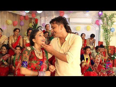 (New Teej Song 2075/2018 - Maya Ko Jaalma - Damodar Bashyal & Samjhana Lamichhane Magar Ft.Krishna - Duration: 9 minutes, 25 seconds.)